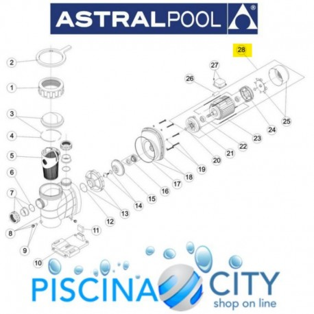 ASTRALPOOL 20599R0475 MOTOR 3/4 HP II ASTRAL