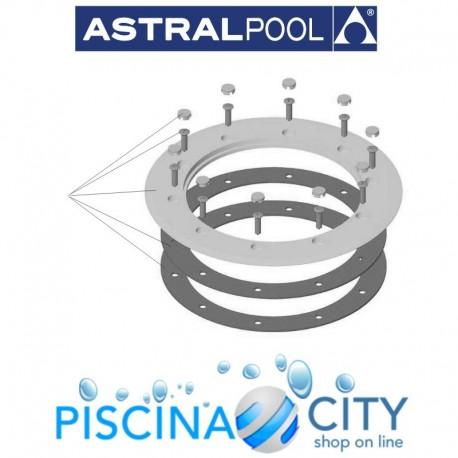 ASTRALPOOL 4402021001 FLANGIA IN PVC E GUARNIZIONI SCARICO DI FONDO