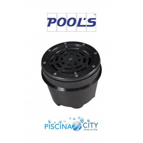 """POOL'S 0473361 NERO PRESA FONDO 2 """" IN ABS PISCINE LINER IN PVC"""